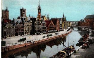 GentGrasleigekleurdepostkaart-ebay