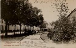 Oude Houtlei gedempt Violettestraat 1908 - Postkaart