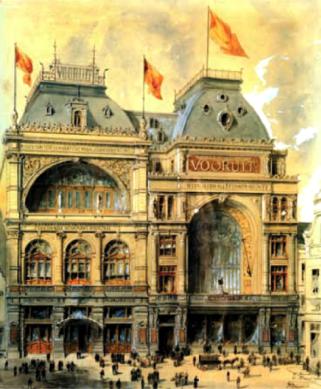 Fernand Dierkens, ingekleurde pentekening - AMSAB, Gent