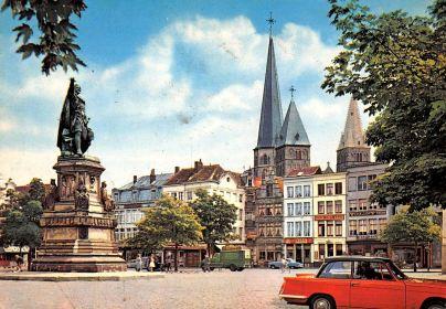 Gentvrijdagsmarktgekleurdepostkaart1964ebay