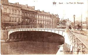tram over Sint-Jorisbrug 1912-postkaart