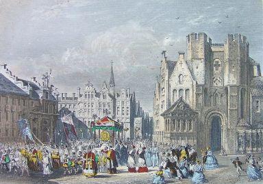 Gent 1860 - Veerleplein-Gravensteen