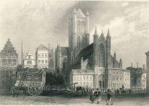 St.-Niklaaskerk 1887 - gravure Barthlett