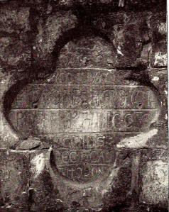 Gent Gravensteen opschrift poort foto