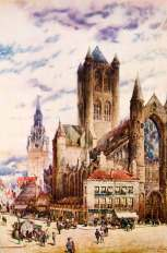 Gent-St.-Niklaaskerk en St.-Baafs 1943 Hughson Hawley2