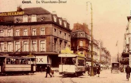 Vlaanderenstraat begin 20e eeuw - Antoon de Loof - Fb -