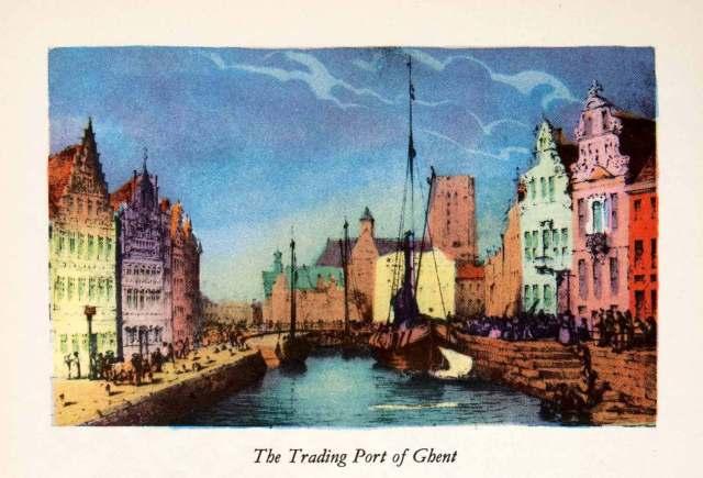 Gent-Graslei 1950 gekleurd