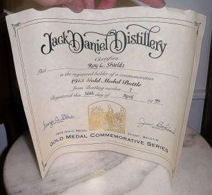 gentoudwereldtentoonstelling1913jackdaniels2Tn Whiskey 1913 Ghent Belgium Gold Medal Empty Bottle & Box
