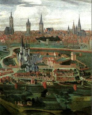 Gent1701-1702Gezichtopdeheerlijkheidsint-baafsendestadgent