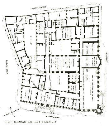GentStadhuisplattegrondHetstadshuisvanGentHNowé