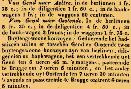 genttreinkaartjes1838gazettevanbrugge15-8-1838
